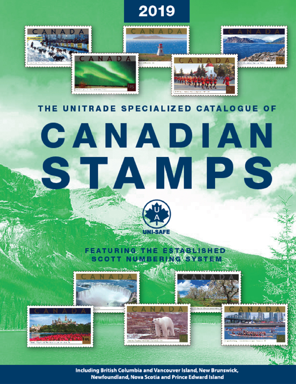 Unitrade Specialized Catalogue Of Canadian Stamp 2019
